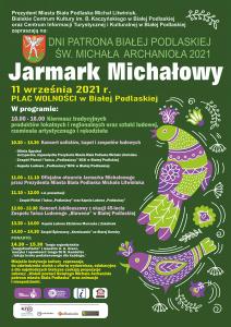 Plakat Jarmark Michałowy 2021